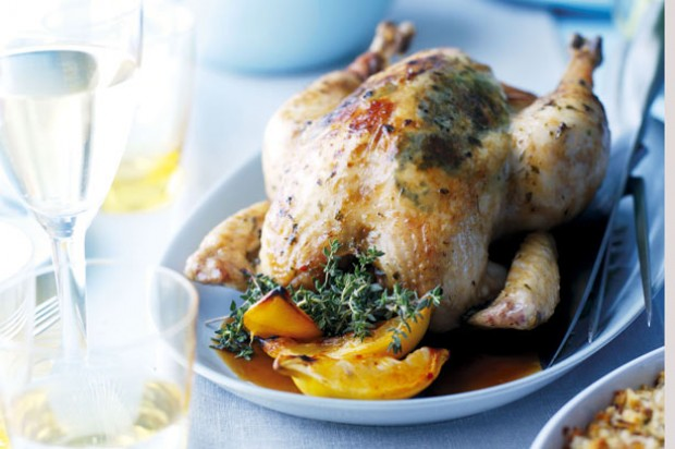 Roast Chicken and Herb Butter