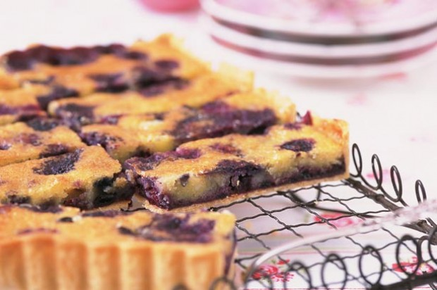 Blueberry bakewell tart