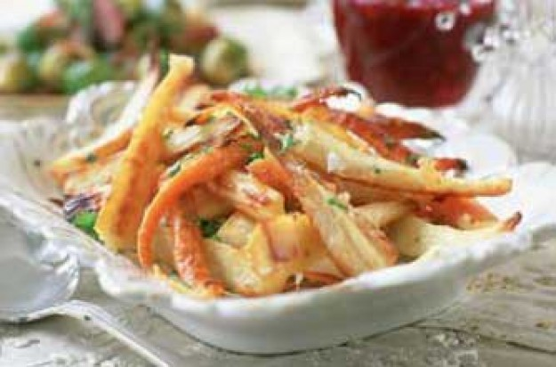 Roast parsnips with parmaesan
