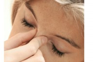 Sinusitis woman headache stress