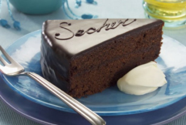 Food Landing Page Recipe Sacher Torte