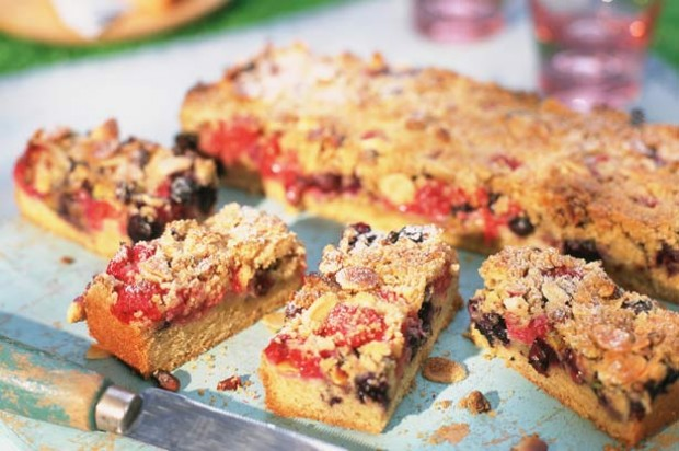 Fruity Streusel Slices