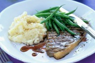 Steak with Parsnip Mash
