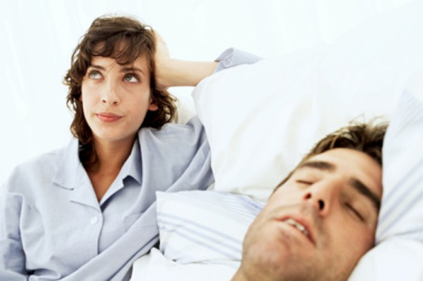 Adult Snoring woman bed man sleep