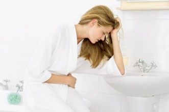 Adult Morning Sickness woman stomach pain