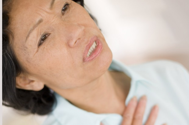 Dyspepsia woman indigestion pain chest