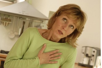angina woman chest pain anxiety ache heart