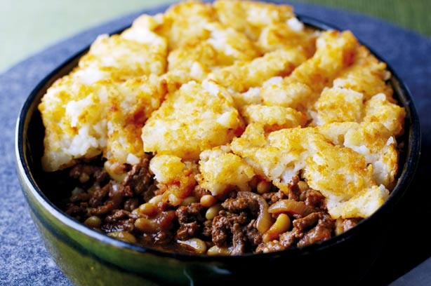 Cottage Pie with Hash Browns