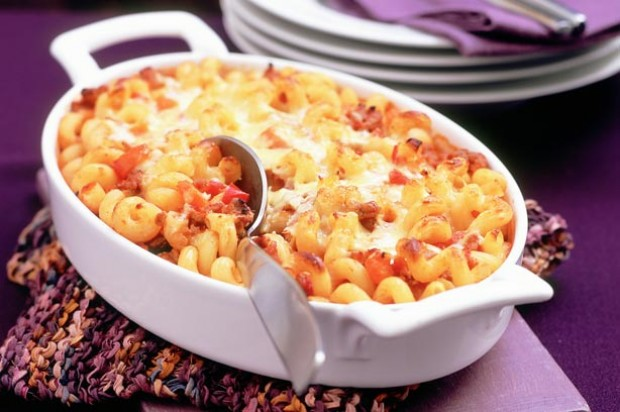 Cheesy and Tomato pasta bake