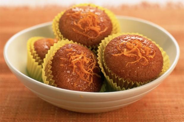 Orange fairy cakes