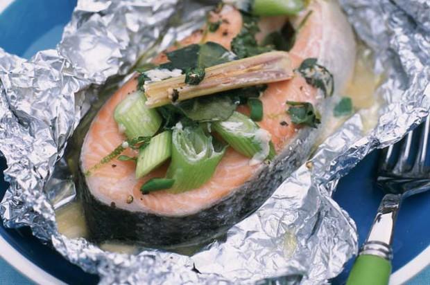 Thai Style Salmon Parcels