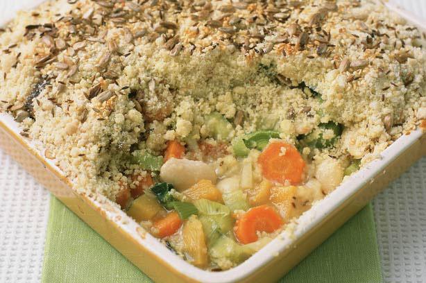 Vegetable crumble recipe - goodtoknow