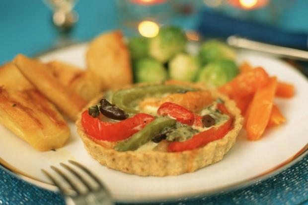 Pepper and Gorgonzola Tarts