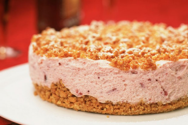 Cranberry Almond Cheesecake