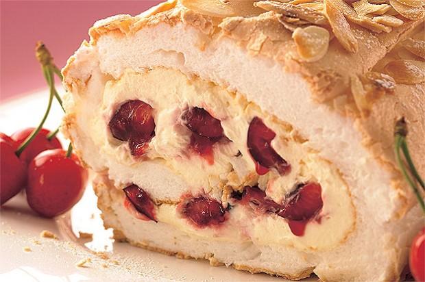 Cherry Meringue Roulade