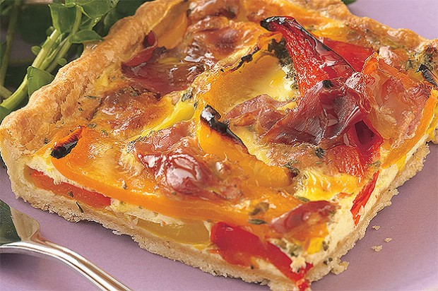 Roast Pepper Flan