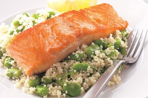Salmon with Broad Bean Cous Cous