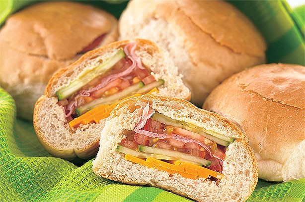 Stripy picnic rolls recipe