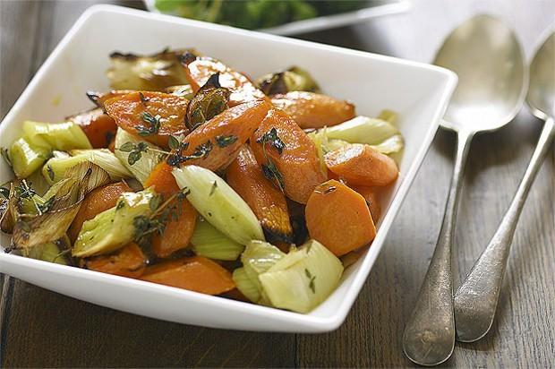 Roasted Carrots and Leeks