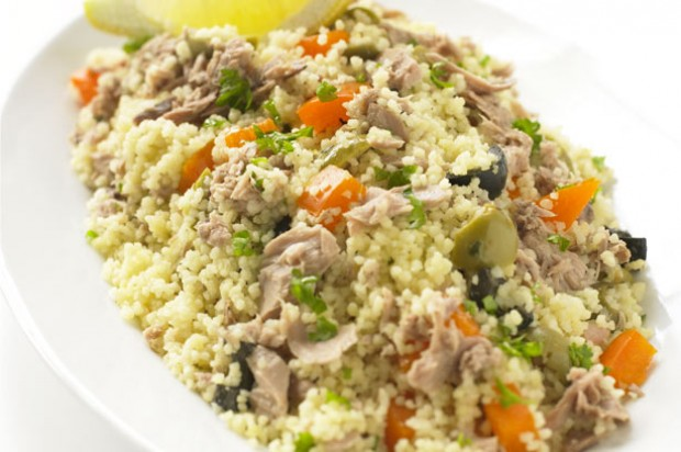 Tuna olive couscous
