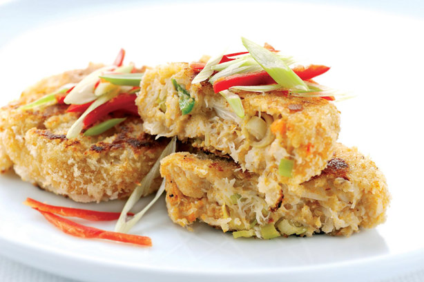 chilli crab cakes recipe goodtoknow