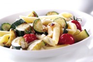 Courgette parmaesan pasta