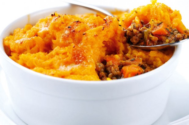 Shepherds pie with sweet potato mash