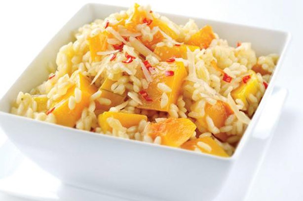 Spicy pumpkin risotto