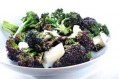 Steamed purple brocolli
