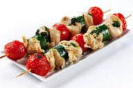Chicken, tomato and courgette skewers