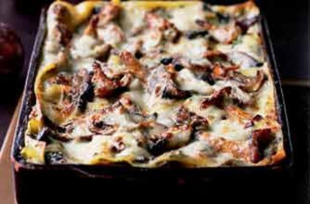 Wild mushroom lasagne recipe