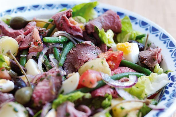 Summer beef nicoise salad recipe