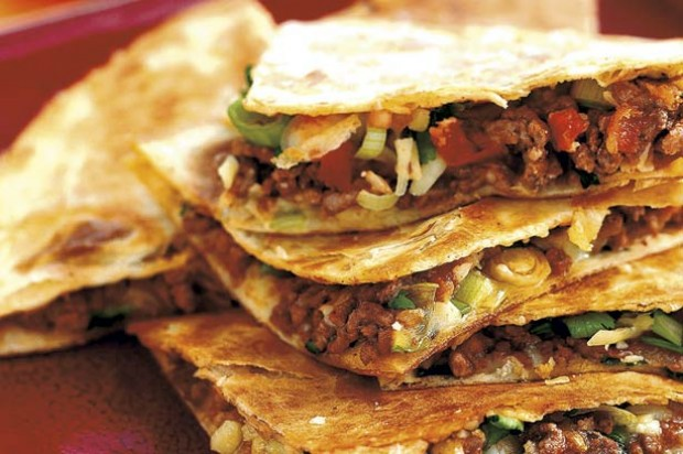 Cheese and beef tortillas
