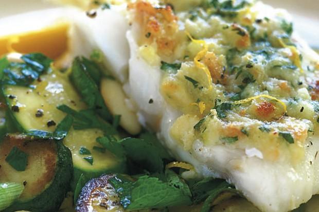 Cheesy grilled haddock