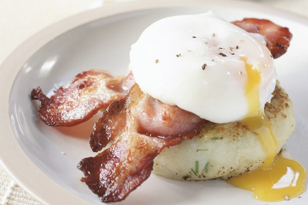Egg and bacon potato cake