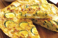 Cheese and courgette frittata