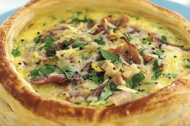 Ham and cheese tart