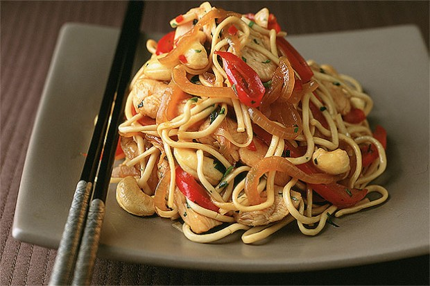 Chicken Stir-Fry with Cashews and Chilli