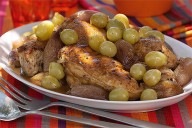 Chicken Braised with Sherry, Vinegar and Grapes