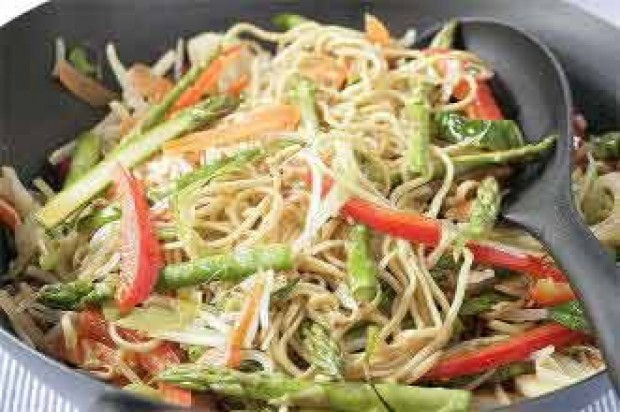 Egg Noodles with Stir-Fry Vegetables