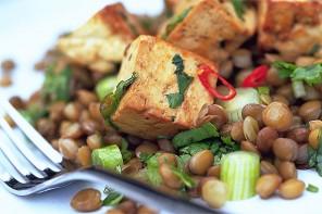 Spicy Lentil Tofu