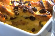 Bread and Butter Pudding with Irish Mist