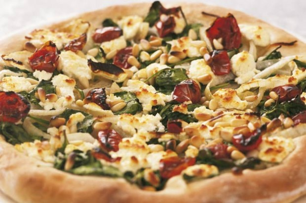 Goat's cheese pizza