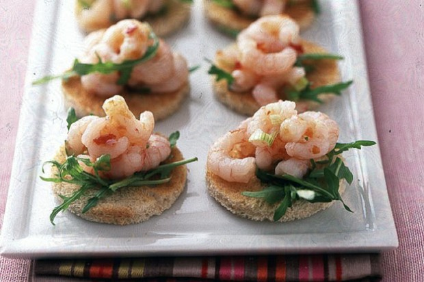 Chilli prawn toasts