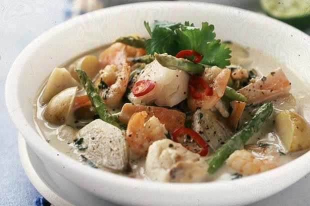 Coconut seafood curry