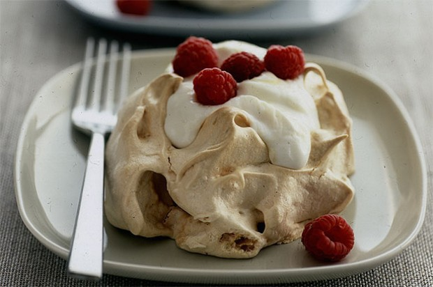 Lemon and Raspberry Pavlovas