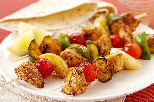 Mediterranean Turkey Kebabs