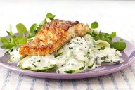 Salmon with Cucumbers and Cream