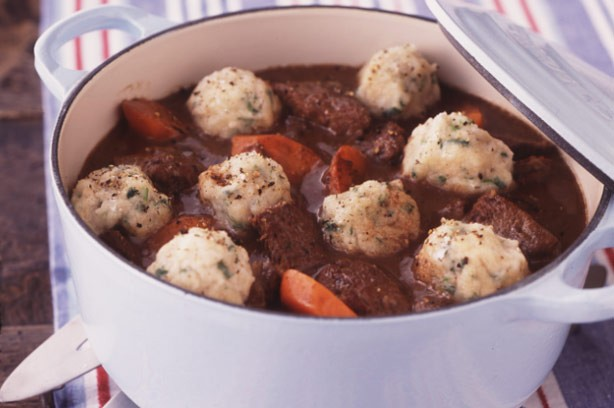 Braised beef with horseradish dumplins
