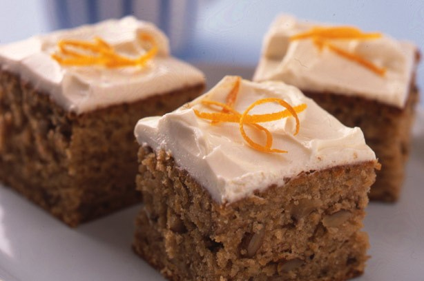 Spiced carrot cake squares recipe